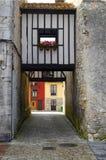 Altes Haus in Llanes, Asturias Stockfoto