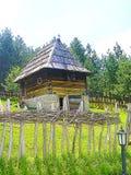 Altes Haus mit Gras lizenzfreies stockbild