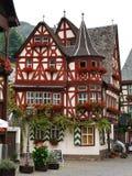 Altes Haus (Oud Huis), in Bacharach, Duitsland Royalty-vrije Stock Afbeeldingen