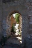 Altes Haus in Roussillon, Frankreich Lizenzfreies Stockfoto