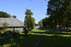 Altes Haus umgeben durch Bäume lizenzfreie stockbilder