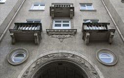 Altes Haus in Vilnius Stockfotografie