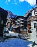 Altes Haus in Zermatt, die Schweiz lizenzfreie stockfotografie