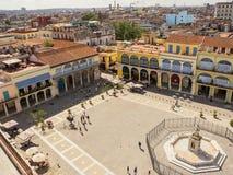 Altes Havana-Quadrat gesehen von oben stockfoto