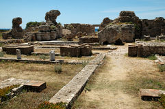 Altes Heraion auf der griechischen Insel von Samos Stockbild