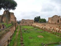 Altes Hippodrom von Domitian in Rom im regnerischen Wetter Lizenzfreie Stockbilder
