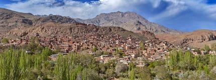 Altes historisches Bergdorf Abyaneh im Iran Lizenzfreie Stockfotografie