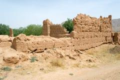 Altes historisches ruiniertes Gebäude in Süd-Marokko Lizenzfreie Stockfotos