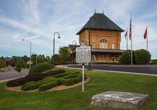 Altes historisches Zugdepot in Bristol Virginia lizenzfreies stockbild