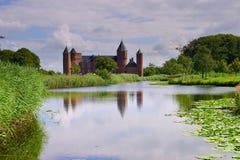 Altes holländisches Schloss in Domburg, Holland Stockfotografie