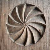 Altes Holz geschnitztes Detail Lizenzfreie Stockfotografie