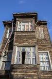 Altes Holzhaus in Kadirga-Bezirk von Istanbul, die Türkei Stockfoto