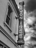 Altes Hotelzeichen Stockfotografie