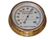 Altes Hygrometer Stockfotografie