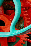 Altes Industriemaschinen-Kettenrad lizenzfreies stockfoto
