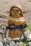 Altes Inuit-Totem in Altai Stockbild
