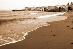 Altes Italien, Sizilien, Cefalu Stadt Stockbild