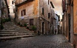 Altes italienisches Dorf Stockfotos