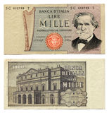 Altes italienisches Geld Stockbild