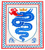 Altes italienisches Wappen des Ritterordens, Mailand, Italien Stockbilder