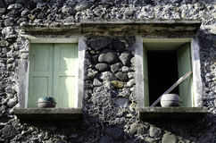 Altes Ivatan-Haus Batanes Philippinen stockbilder