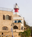 Altes Jaffa-Licht, Israel, Mittelmeer Stockbilder