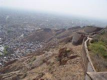 Altes Jaipur von den Dächern des Tigerforts Stockbilder