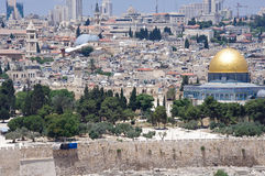 Altes Jerusalem-Stadtbild Lizenzfreies Stockbild