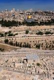 Altes Jerusalem von Oliva Mountain Lizenzfreie Stockfotografie
