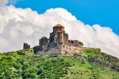 Altes Jvari-Kloster6. jahrhundert in Mtskheta, Georgia lizenzfreie stockbilder