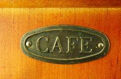 Altes Kaffeemühlebraun in der Farbe Stockfoto