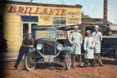 Altes Kalifornien-Wandgemälde Stockfoto