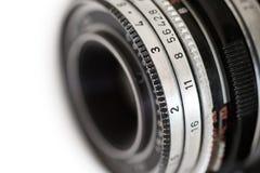 Altes Kameraobjektiv Stockfotografie