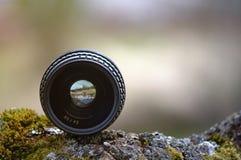 Altes Kameraobjektiv Lizenzfreie Stockfotografie