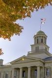 Altes Kapitol Iowa City IA Lizenzfreie Stockbilder