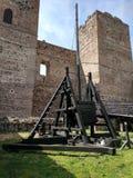 Altes Katapult, Lozoya-Schloss stockbild