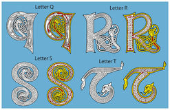 Altes keltisches Alphabet Stockbilder