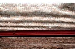 Altes keramisches Dach Closedup im Tempel lizenzfreie stockfotografie
