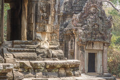 Altes Khmerschnitzen von Krishna, Angkor lizenzfreie stockbilder