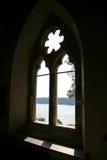 Altes Kirche-Fenster Stockfotografie