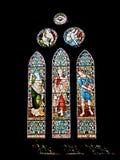 Altes Kirchefenster. Stockfotos