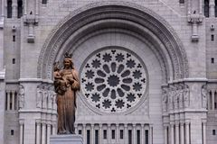 Altes Kirchengesicht in Kanada Stockfotos