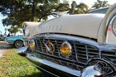 Altes klassisches amerikanisches Autodetail Lizenzfreie Stockfotos