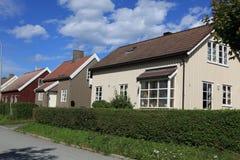 Altes klassisches Haus in Trondheim, Norwegen Stockbilder