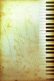 Altes Klavierpapier Stockfotos