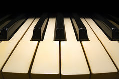 Altes Klaviertastatur fisheye Lizenzfreie Stockfotos