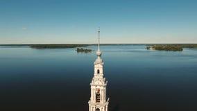 Altes Kloster auf der Insel stock video footage