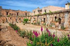 Altes Kloster von Arkadi, Kreta Griechenland lizenzfreies stockbild