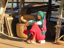 Altes Koli-Frau Chuim-Dorf Bandra Lizenzfreie Stockfotos