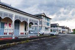 Altes Krankenhaus in St Laurent du Maroni lizenzfreie stockfotos